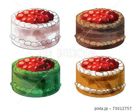 デコレーションケーキ 水彩風 73012757