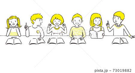 手描き1color 6人男女 お勉強 73019882