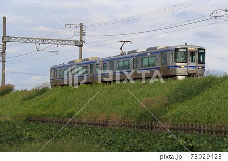 【愛知環状鉄道】永覚~三河上郷の草原を往く青帯の2000系 73029423