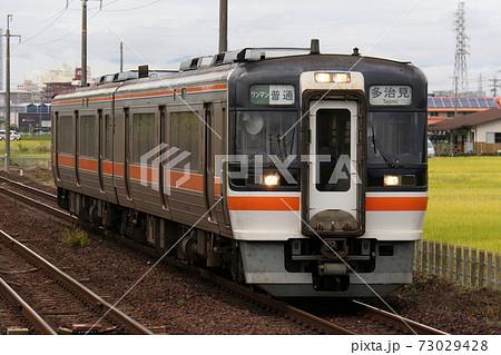 【JR東海・高山本線】長森駅に到着するキハ75形ディーゼルカー 73029428