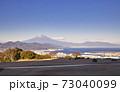 日本平から見た富士山 冬 73040099
