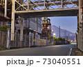 富士の製紙工場と富士山 73040551