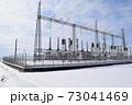 雪国の屋外変電設備 73041469
