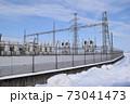 雪国の屋外変電設備 73041473