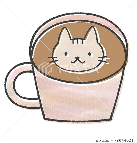 ネコのカフェラテ(ラテアート) 73044021
