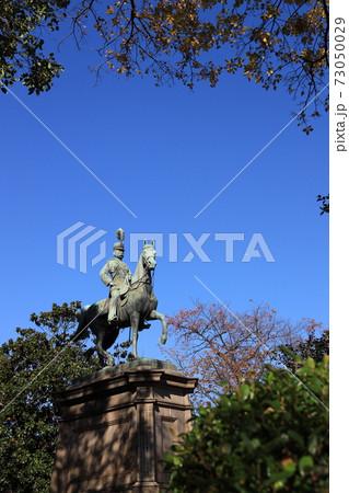 東京都台東区上野公園の小松宮彰仁親王像 73050029