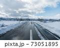 雪国の田舎道① 73051895