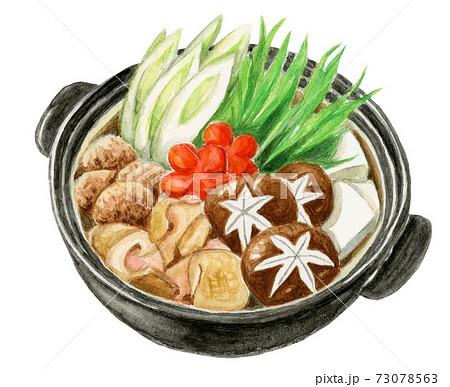 鍋料理 水彩画 73078563