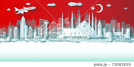 Travel Turkey top world famous city ancient and palace architecture. 73085839