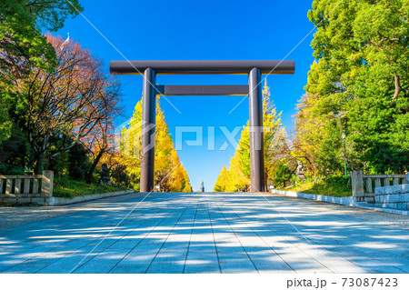 東京 秋の靖国神社 73087423