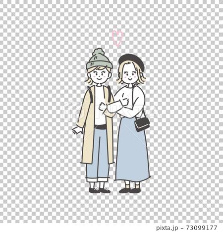 Illustration of same-sex couple 73099177