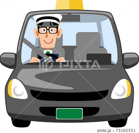 眼鏡をかけた男性のタクシードライバー 73102551
