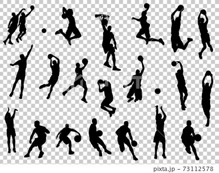 籃球silhouette_set 2 73112578