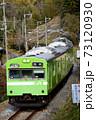 奈良線を走るウグイス色の103系 73120930