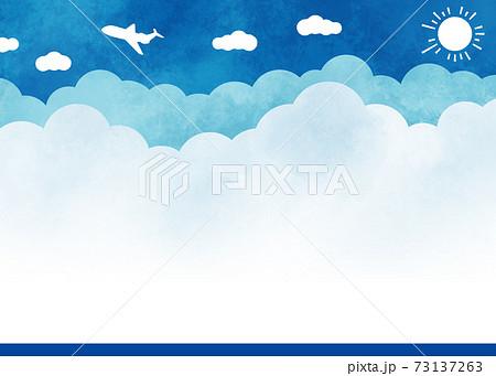 水彩風の青空背景 73137263