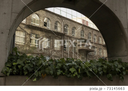 アーチの壁から見た学校・銀座泰明小学校 73145663