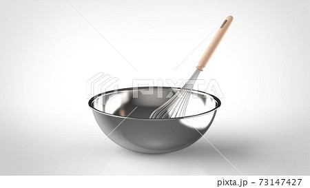 whisk and bowl  73147427