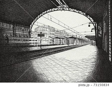 ペン画 スペイン・バレンシアノルド駅 73150834