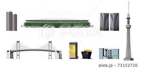 東京建物3_スカイツリー_新国立競技場_レインボーブリッジ 73152720