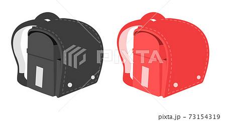 赤と黒のランドセルのベクターイラスト 73154319