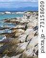 Aegean sea coast in Greece 73158609