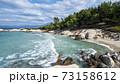 Aegean sea coast in Greece 73158612