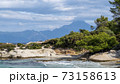 Aegean sea coast in Greece 73158613