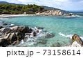 Aegean sea coast in Greece 73158614
