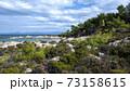 Aegean sea coast in Greece 73158615