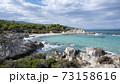 Aegean sea coast in Greece 73158616