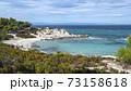 Aegean sea coast in Greece 73158618