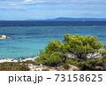 Aegean sea coast in Greece 73158625