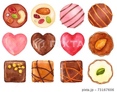 水彩チョコレートボンボン 73167606