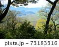 猿掛城から矢掛方面の眺望 岡山県小田郡矢掛町 73183316