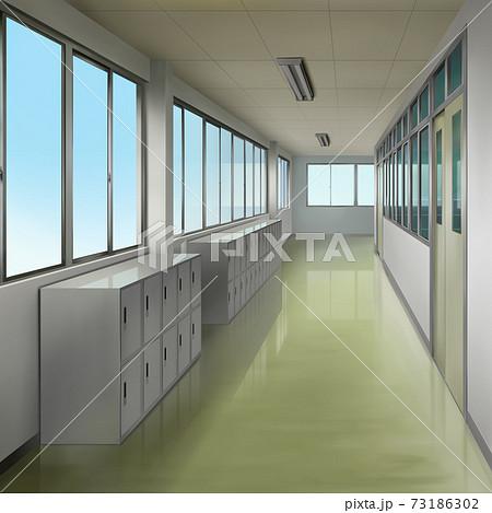 学校の廊下のイラスト 73186302