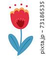 春の花 チューリップのイラスト 73186535