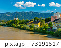View of a small Alpine city of Villach, Austria 73191517