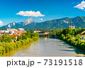 View of a small Alpine city of Villach, Austria 73191518