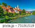 The beautiful Austrian town of  Murau, Western Styria, Austria 73191519