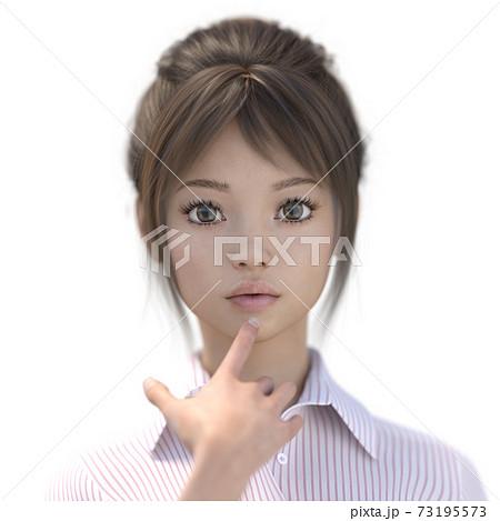 ポーズするビジネススーツの女性 perming3DCGイラスト素材 73195573