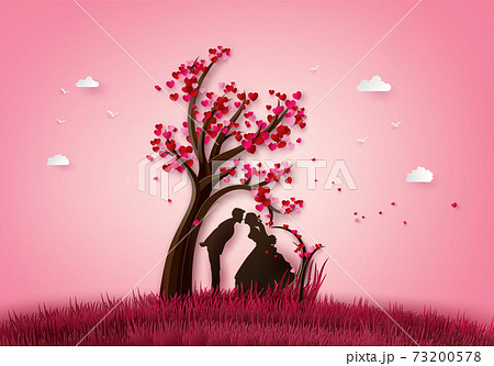 Illustration of love and valentine's Day, 73200578
