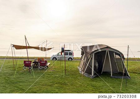 北海道 尾対沼ふれあいキャンプ場でのキャンプスタイル 73203308