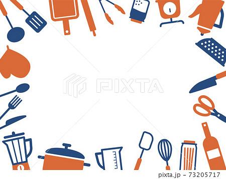キッチン用品アイコンのフレーム 73205717