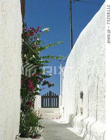 【ギリシャ】サントリーニ島の路地 73208112