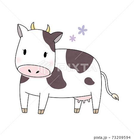 雌牛と花 73209594