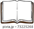 開いた本のイラスト 手描きタッチ 73225268