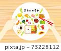 お弁当を作る可愛いイラスト 73228112