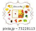 お弁当を作る可愛いイラスト 73228113