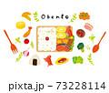 お弁当を作る可愛いイラスト 73228114