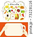 お弁当を作る可愛いイラスト 73228116